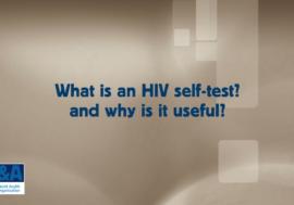 Видео ВОЗ о самотестирвоании на ВИЧ