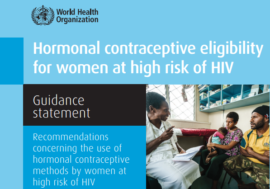 Webinar with WHO on hormonal contraception and HIV