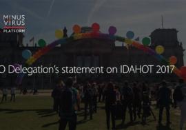 NGO Delegation's statement on IDAHOT 2017