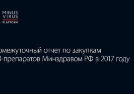 Промежуточный отчет по закупкам АРВ-препаратов Минздравом РФ в 2017 году