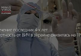 За 4 года смертность от ВИЧ в Украине снизилась на 11%, – МОЗ