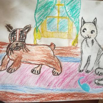 Саша, 7 лет. Когда я вырасту, хочу быть ветеринаром и лечить зверей