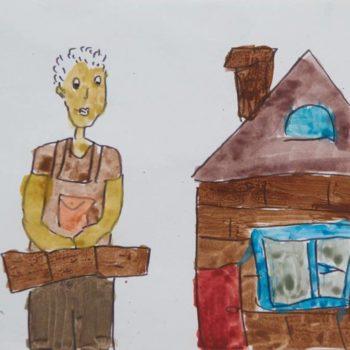 Все профессии важны, все профессии нужны. Так считает десятилетний Толя. Он хочет стать строителем и построить тёплый и уютный дом, где будет жить вся его семья
