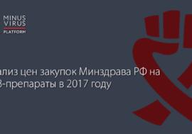 Анализ цен закупок Минздрава РФ на АРВ-препараты в 2017 году