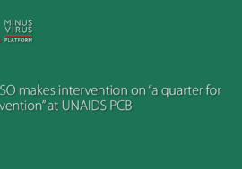"""ICASO makes intervention on """"a quarter for prevention"""" at UNAIDS PCB"""