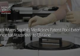 Bristol-Myers Squibb, Medicines Patent Pool Extend Licence for Atazanavir to Ukraine