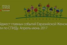 Дайджест главных событий Евразийской Женской Сети по СПИДу. Апрель-июнь 2017