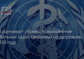ВОЗ оценивает стоимость выполнения глобальных задач, связанных со здоровьем, к 2030 году