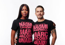 Naomi Campbell, Marc Jacobs and UNAIDS announce collaboration on limited edition T-shirt for World AIDS Day