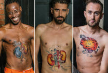 HIV positive men undress to raise awareness about ageing with the virus