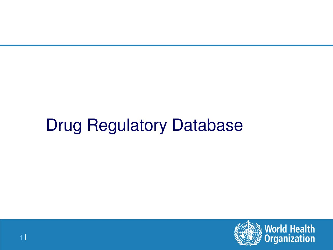 Drug regulatory database.