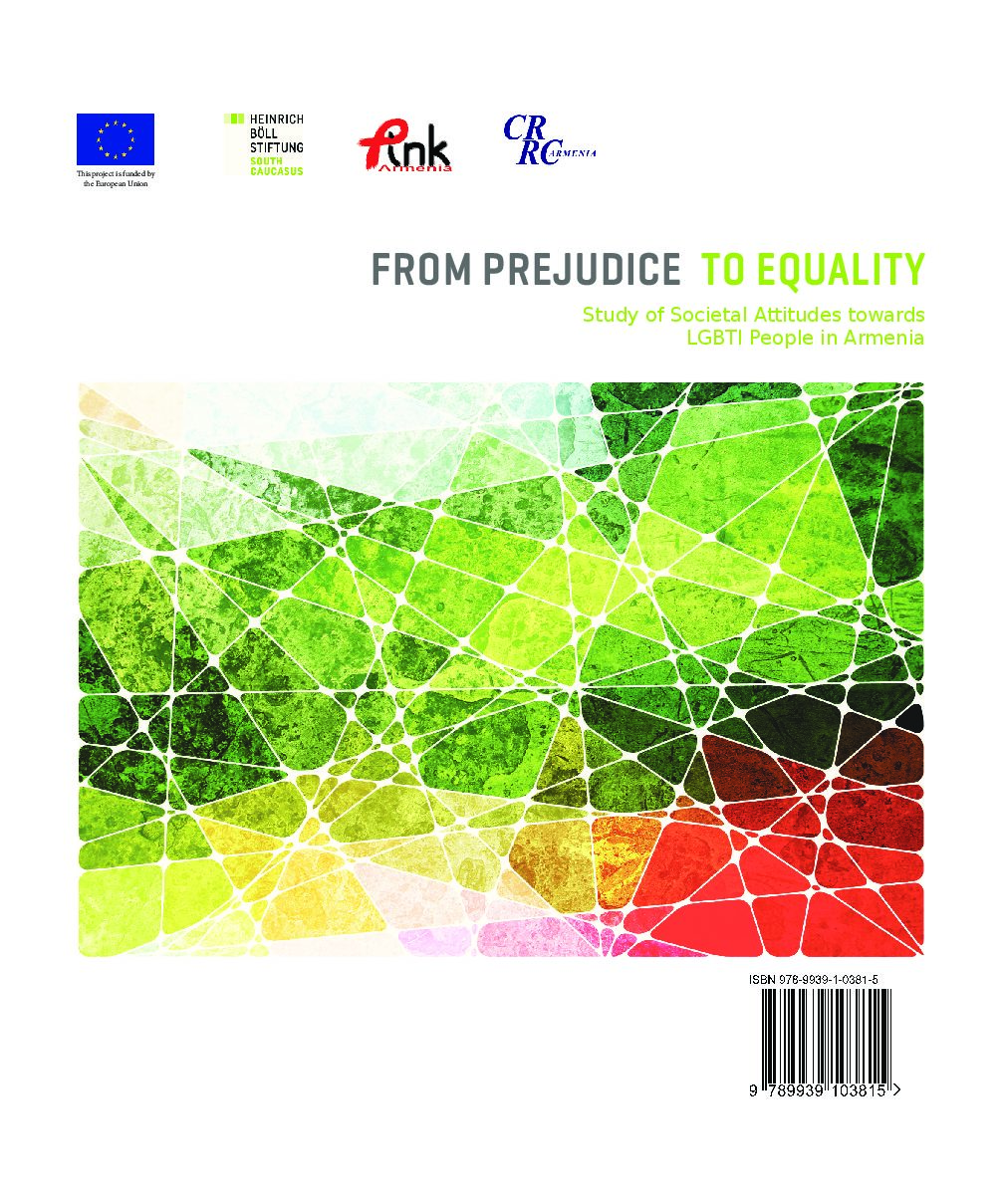 From Prejudice to Equality. Study of societal attitudes towards LGBTI people in Armenia