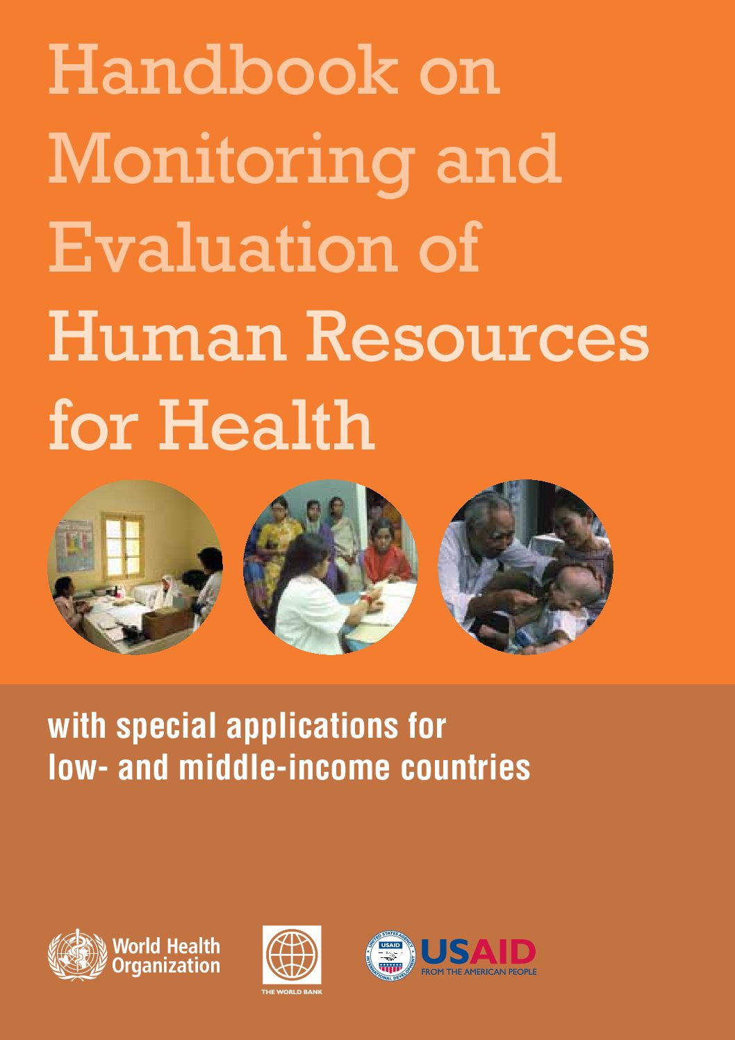 Handbook on monitoring and evaluation of human resources for health: with special applications for low- and middle-income countries