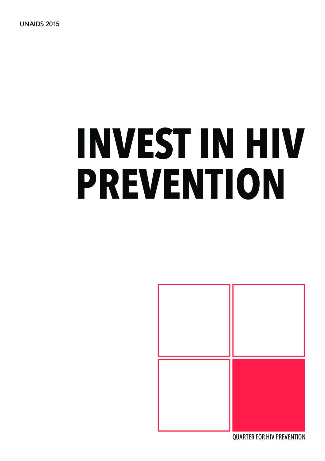 Invest in HIV prevention.
