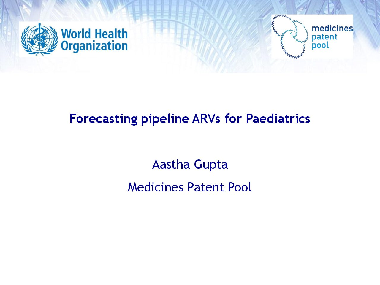 MPP Forecasting pipeline ARVs for Paediatrics