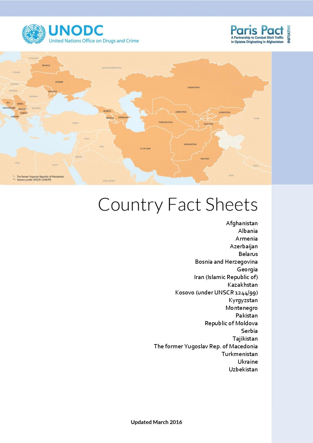 UNODC drugs. Country fact sheets.