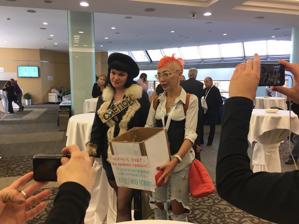 Акция СР на конференции EECAAC 2018
