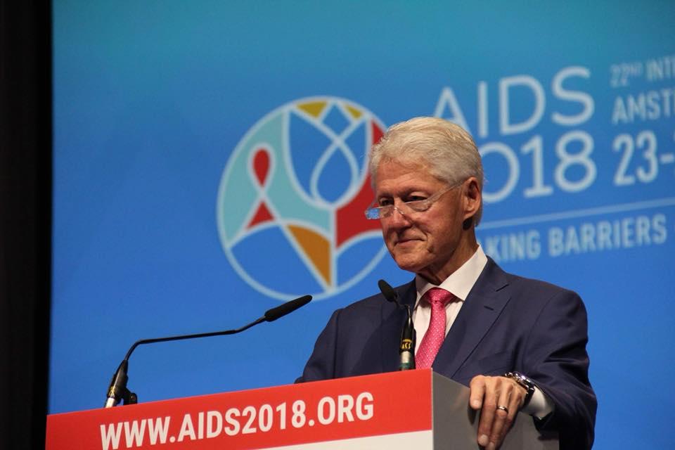 Билл Клинтон на AIDS 2018. Фото: Инна Гаврилова