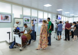 «Вернись домой здоровым!». В Кыргызстане проходит выставка о миграции и туберкулезе