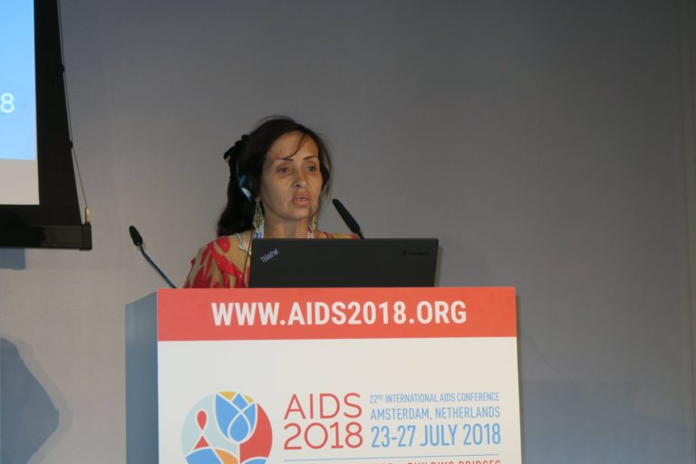 Зебо на AIDS 2018. Фото: AFEW International