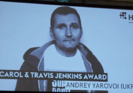 Узника террористов ЛНР заочно наградили на конференции #HR19