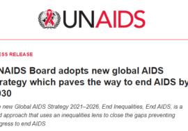 Принята стратегия ответа по ВИЧ 2021-2026 года UNAIDS